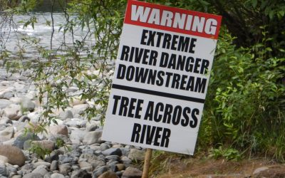 River Warning Posted